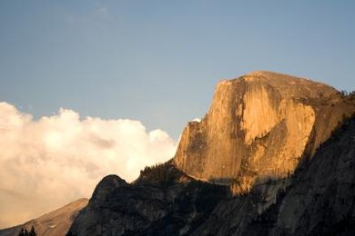 Impressive features like Yosemite's Half Dome are formed by the process of weathering.