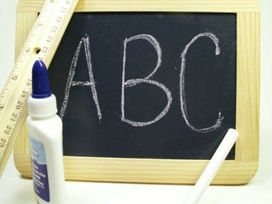 Ask each child to write his name on the board after introducing himself to the class.
