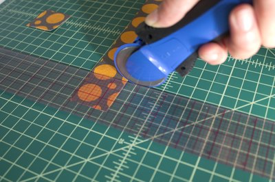 Easily cut fabric with a rotary cutter.
