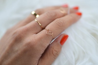 Dainty and sweet, this ring is perfect for stacking.