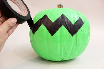Make a chevron pattern with tape