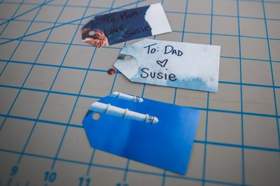 Make gift tags from the scraps.