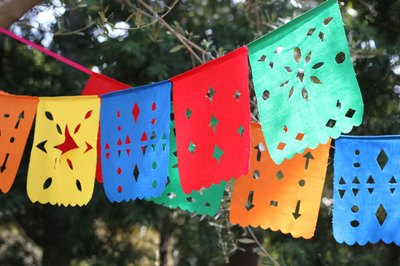 Hang flag banners as decoration