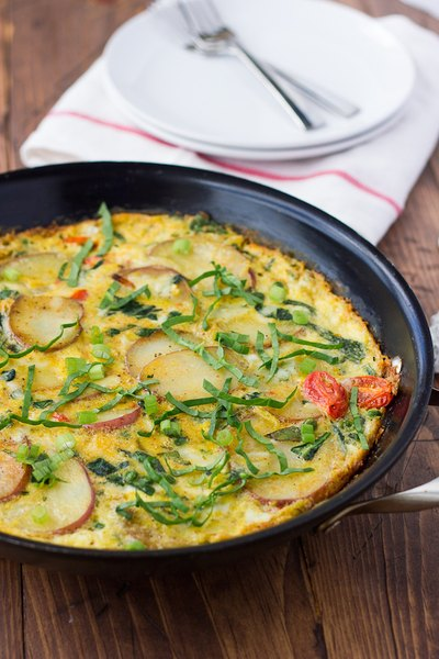 Potato, Spinach, and Cheese Frittata