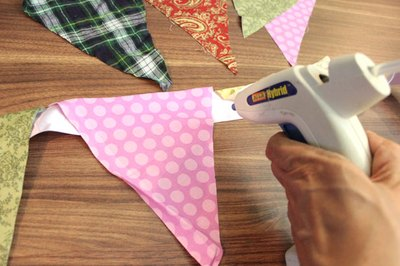 Create flag bunting for the top