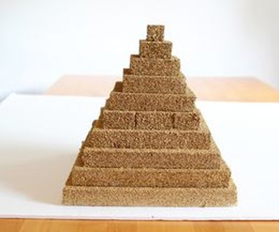 Make a pyramid model using styrofoam