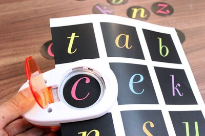 Cut out alphabet letters