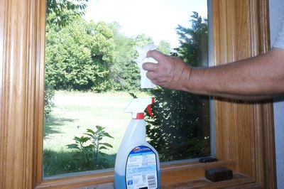 First, clean the window with household window cleaner.