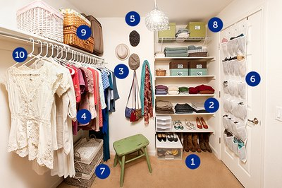 With an organized closet, you won't have to stumble through clutter to find what you need.
