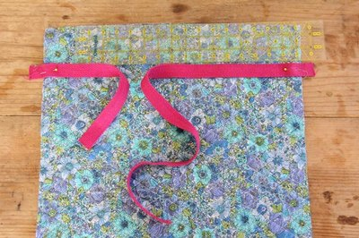 Pin Webbing onto Quilted Fabric
