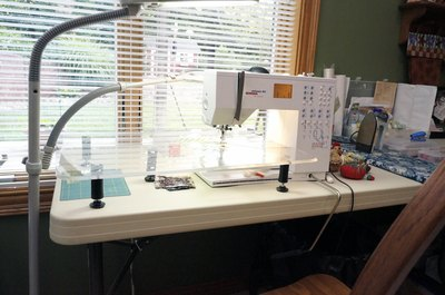 The nerve center of the sewing room.
