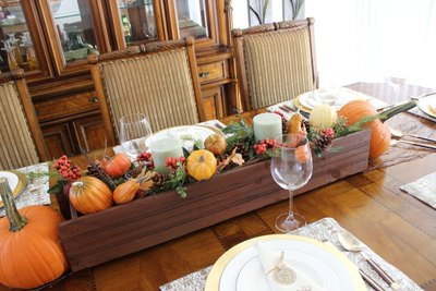 Create a fall centerpiece with a window box planter