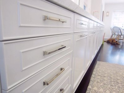 New hardware gives old or outdated cabinets a fresh look.