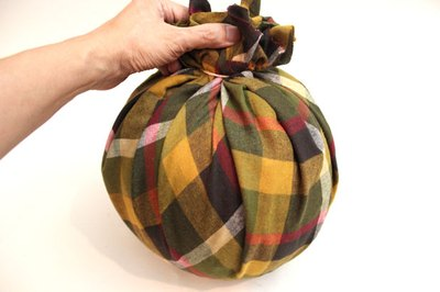Wrap the pumpkin in fabric