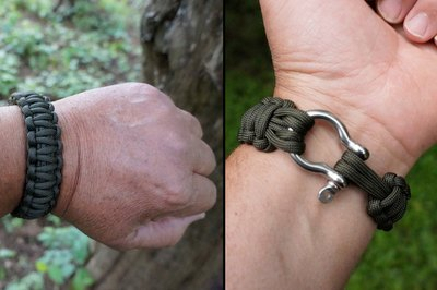 Close shackle with handle pointing away from your hand.