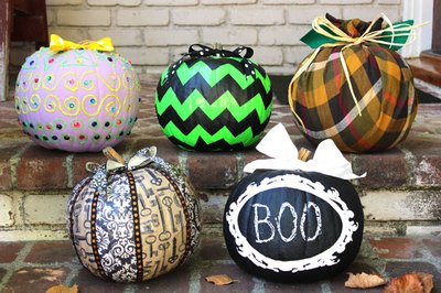 5 Stylish No-Carve Pumpkin Decorating Ideas