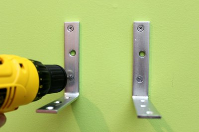 Secure L-brackets with screws