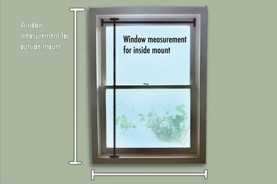 Measure the window before purchasing the roller shade.