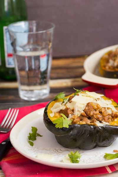 There's nothing more satisfying than a carby stuffed squash!