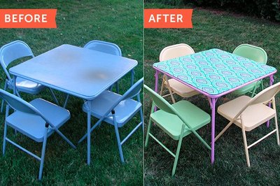 Folding tables and chairs can be chic, too.