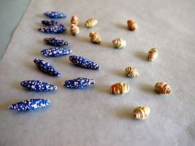 Glazing adds a lovely sheen to the beads.