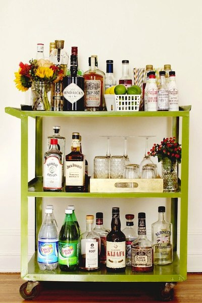 Stock up on various cocktail bar staples like Hendrick's gin and Angostura bitters; you never know which drinks your guests will prefer!