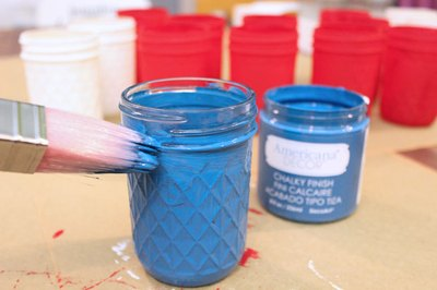 Paint the mason jars