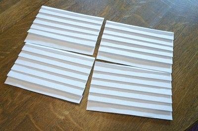 Make several pleated sheets.