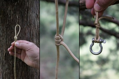 Secure smaller shackle to adjustable lead.