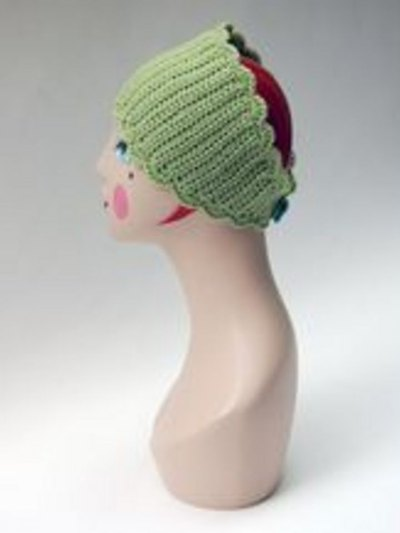 Crocheted headband.