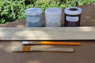 Painting with chalk paint is the perfect method for a vintage and shabby look.