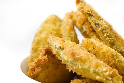 There's little better than a crunchy fried, sour pickle. Try them at home.