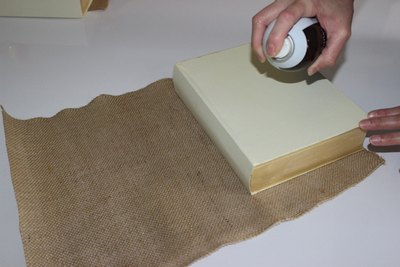 Use spray adhesive in a well ventilated room.