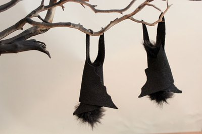 Glue bats to the branch
