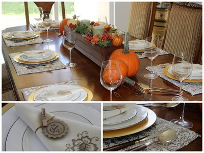 Easy Thanksgiving Place Settings