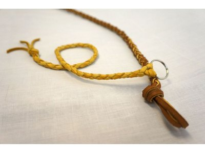Here is an example of four strand round braided leather.