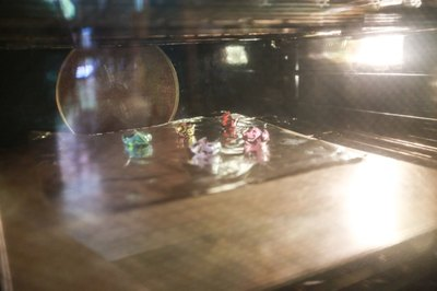 Don't worry if they warp! Leave the Shrinky Dinks in the oven until they let flat again.