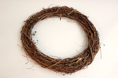 Start with a grapevine wreath