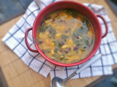 Add any winter squash to your winter soups!