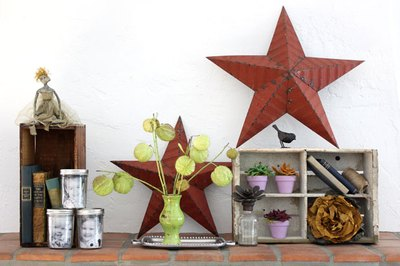 Have fun throughout the year updating your mantel with different design ideas.