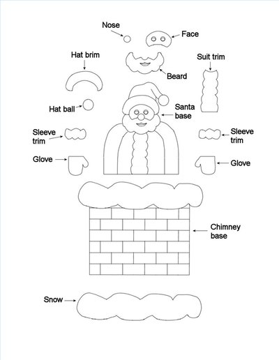 print out the pop up santa claus template click on the thumbnail to see the full size printable image