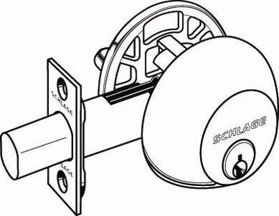 Schematic of a Schlage deadbolt