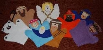 Completed Nativity Puppets