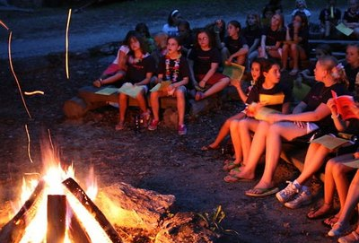 Gather around a campfire and celebrate.