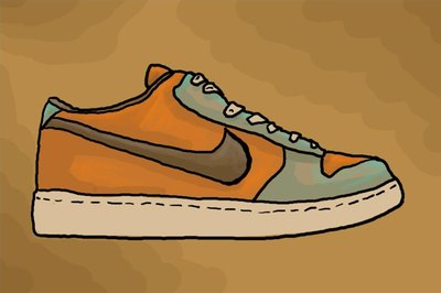 Perfect Color The Nike Shoe To Complete The Drawing.