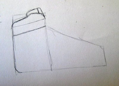 Draw the top of the Nike Air Force Ones.