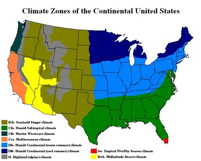 Climate map of the United States