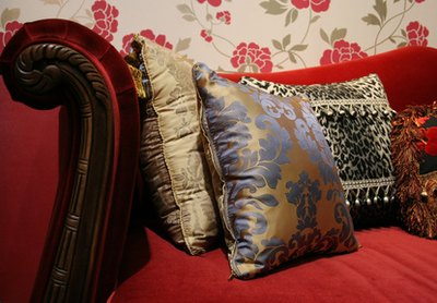 Throw pillows are an easy way to add some color and excitement.
