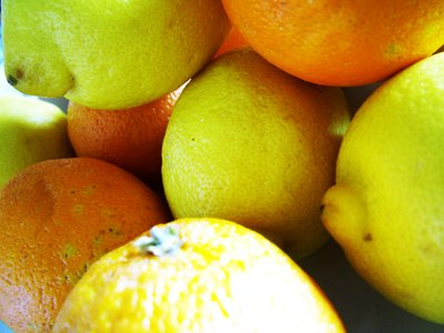 Lemon and orange slices placed on problem lawn areas deter dogs.