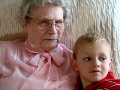 Bring children to visit an elderly shut-in and make her day.